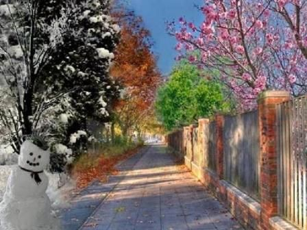 Erzurumun eski hesap  4 mevsim hava durumu