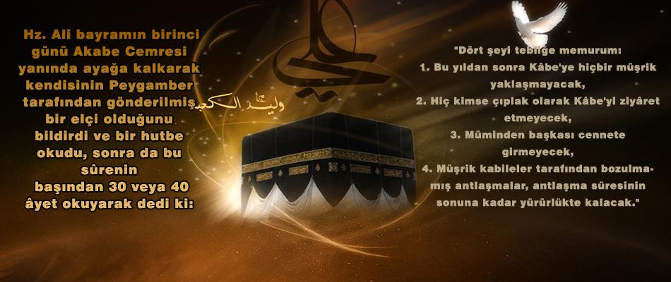 Allah ve Resûlünden müşriklere bir ÜLTÜMATON
