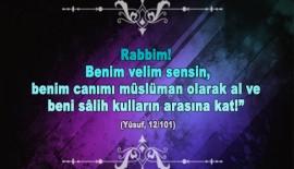 Rabbim! Benim velim sensin…..
